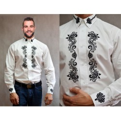 Koszula męska góralska - Kołnierzyk
