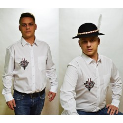 Koszula męska haftowana góralska parzenica