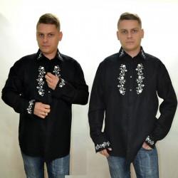 Koszula góralska rozpinana - haftowana