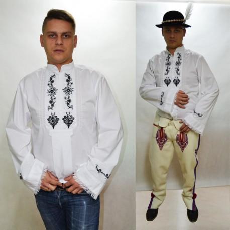Koszula regionalna góralska KOŁNIERZYK rozm. S